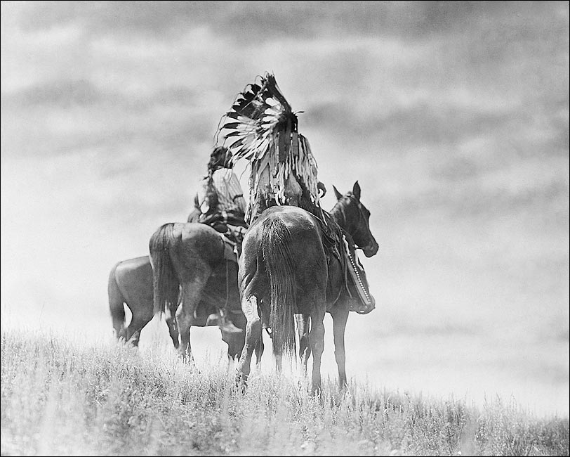 Cheyenne indian warriors edward s curtis photo print