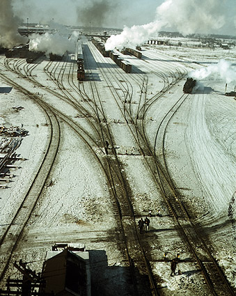 Chicago & North Western Railroad Yard 1942 Photo Print