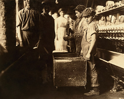 Child Doffer Workers at Elk Cotton Mills in Tennessee Photo Print