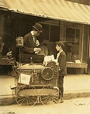 Child Labor Peanut Vendor Lewis Hine 1910 Photo Print for Sale