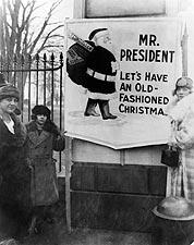 Christmas Demonstrators at White House 1922 Photo Print for Sale