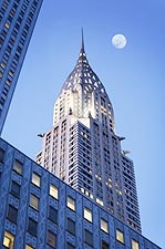 Chrysler Building Full Moon New York City Photo Print for Sale