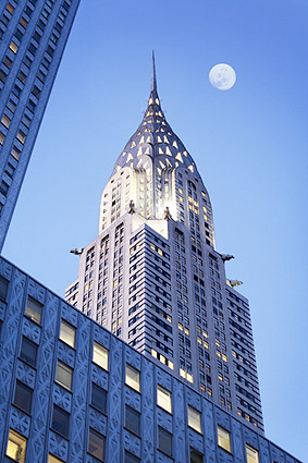 Chrysler Building Full Moon New York City Photo Print