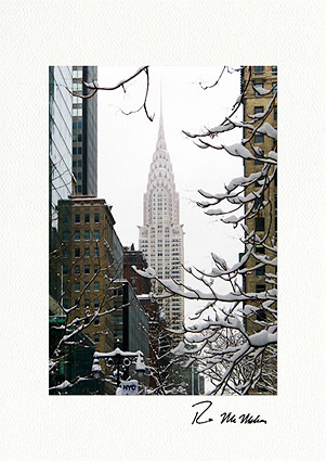Chrysler Building Winter New York City Individual Holiday Cards