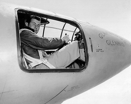 Chuck Yeager in Bell X-1 Cockpit Photo Print