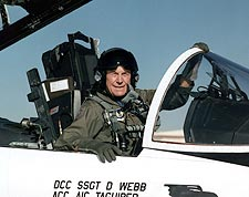Chuck Yeager in F-15 Cockpit U.S. Air Force Photo Print for Sale