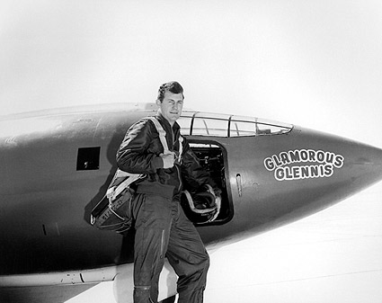 Chuck Yeager w/ Bell X-1 Rocket Plane Photo Print