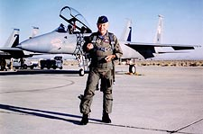 Chuck Yeager w/ F-15 Glamorous Glennis Photo Print for Sale
