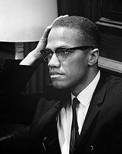 Civil Rights Leader Malcolm X Portrait Photo Print for Sale