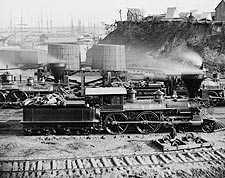 Civil War Locomotives City Point Virginia Photo Print for Sale