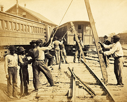 Civil War Railroad Laborers Photo Print