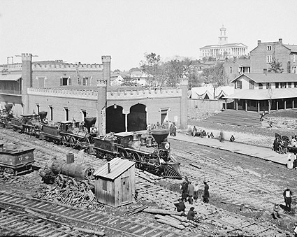 Civil War Railroad Yard Nashville Tennessee Photo Print