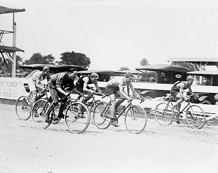 Classic 1925 Bicycle Race Photo Print