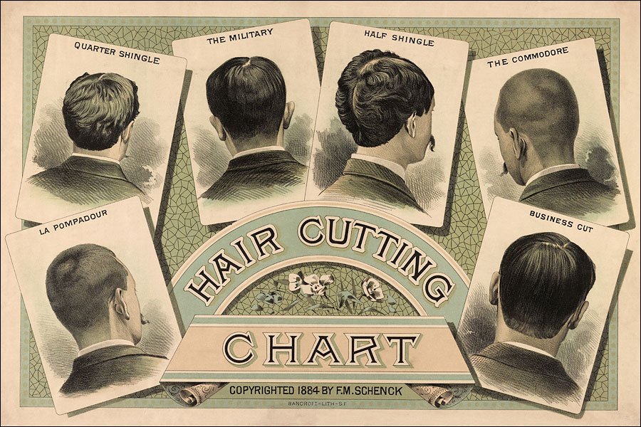 Barber Shop Hair Style Chart | Free Printable Hairstyles