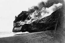 Cliff House Burning San Francisco 1907 Photo Print for Sale