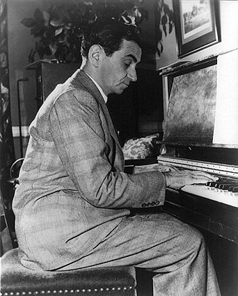 Composer Irving Berlin Portrait at Piano Photo Print