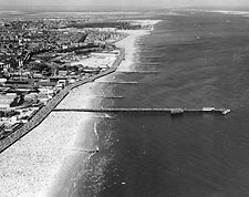 Coney Island Shoreline, New York City 1936 Photo Print for Sale