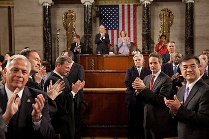 Congress Applauds Obama at State of the Union 2010 Photo Print