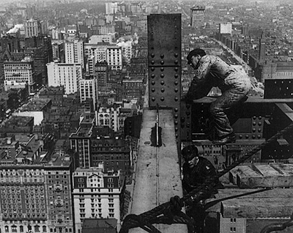 Construction Workers on Met Life Tower 1908 Photo Print