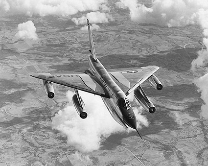 Convair B-58 Hustler Bomber Flying Photo Print