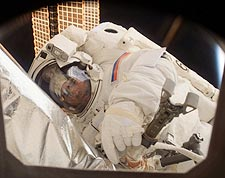 Cosmonaut Yuri Malenchenko Spacewalk EVA Photo Print for Sale