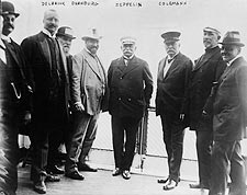 Count Ferdinand Von Zeppelin in Group Photo Print for Sale