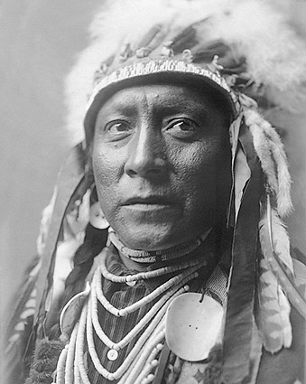 Crow Indian Man Edward S. Curtis Portrait Photo Print