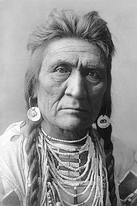 Crow Indian Man Wolf Edward S. Curtis 1908 Photo Print