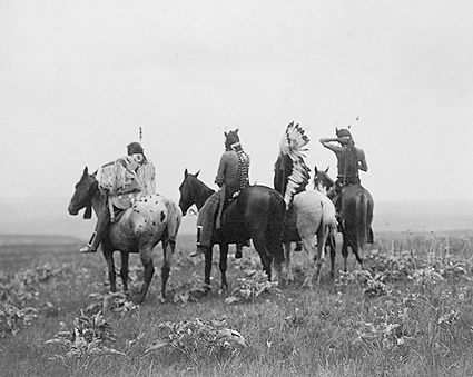 Crow Indians in Montana Edward S. Curtis Photo Print