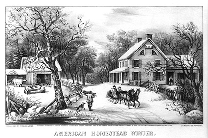 Currier & Ives 'American Homestead Winter' Photo Print
