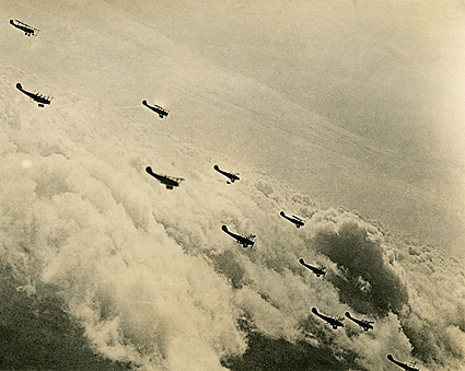 Curtiss JN-4 'Jenny' Biplane Formation WWI  Photo Print