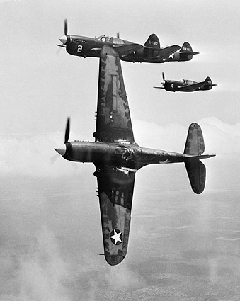 Curtiss P-40 Warhawk Aircraft WWII 1943 Photo Print
