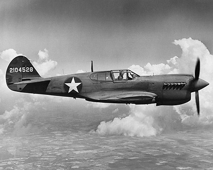 Curtiss P-40 Warhawk Aircraft WWII Photo Print