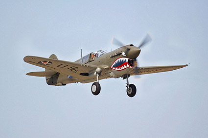 Curtiss P-40 Warhawk WWII Fighter Plane Photo Print