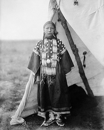 Dakota Indian and Tipi Edward S. Curtis Photo Print