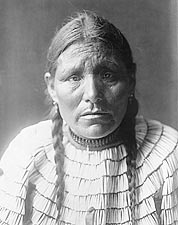 Dakota Indian Edward S. Curtis Portrait Photo Print for Sale