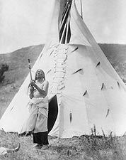 Dakota Indian & Tipi Edward S. Curtis 1907 Photo Print for Sale
