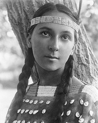 Dakota Woman Edward S. Curtis Portrait Photo Print