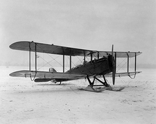 De Havilland DH-4 Airplane w/ Skis 3/4 View Photo Print
