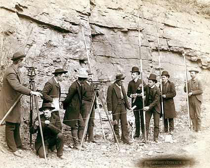 Deadwood Central Railroad Surveyors 1888 Photo Print