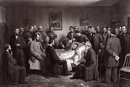 Death of President Abraham Lincoln Painting Photo Print