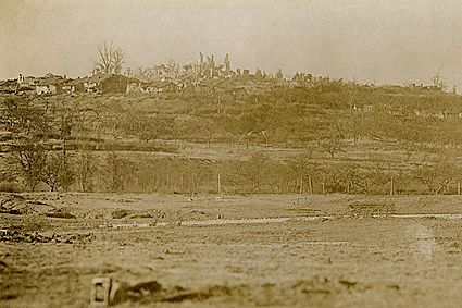Destruction at Montfaucon, France WWI Photo Print