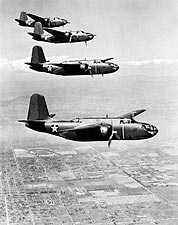 Douglas A-20 Havoc WWII Aircraft Formation Photo Print for Sale