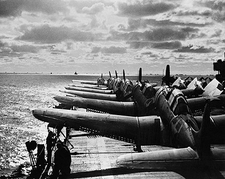 Douglas Scout Bombers Aircraft Deck WWII Photo Print