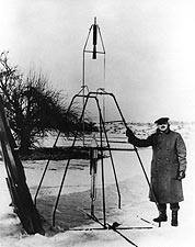 Dr. Robert Goddard 1st Liquid Fueled Rocket Photo Print for Sale