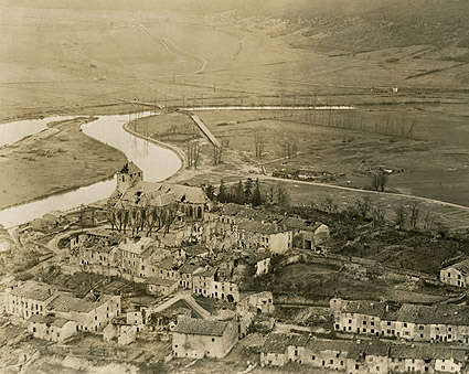 Dun Sur Meuse, France After Bombing WWI Photo Print