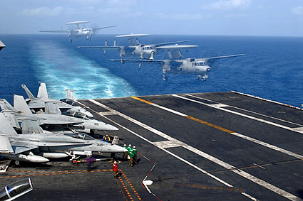 E-2C Hawkeye Landing on USS John C. Stennis Photo Print