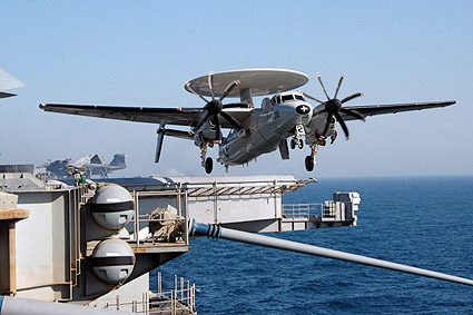 E-2C Hawkeye Launches From USS Nimitz Photo Print