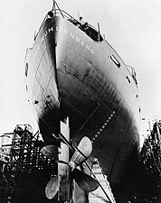 EC-2 Liberty Ship West Coast Shipyard WWII Photo Print for Sale