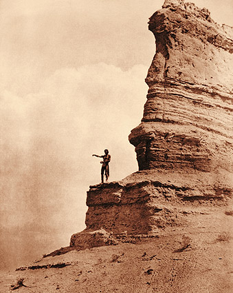 Edward S. Curtis Offering to the Sun Indian Photo Print